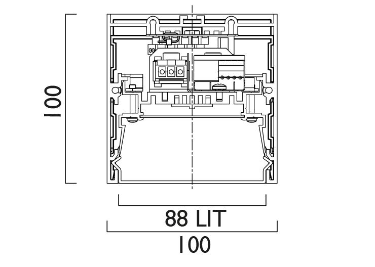Lightline LED 88 Surface / Pendant  Line Drawing